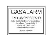 WS-Gas Warnschild Gasalarm