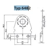 Befestigungswinkel S-Form aus Kunststoff 6482