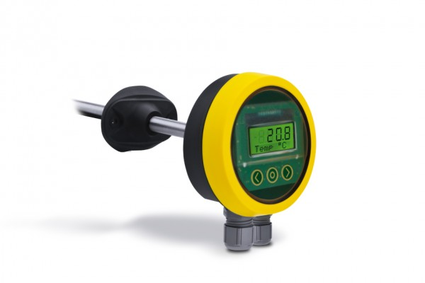 VT... OPP-SENS® Volumenstrom-Temperatur-Transmitter Tauchlänge 50 – 190 mm mit Display